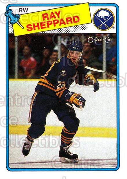 1988-89 O-Pee-Chee #55 Ray Sheppard<br/>4 In Stock - $2.00 each - <a href=https://centericecollectibles.foxycart.com/cart?name=1988-89%20O-Pee-Chee%20%2355%20Ray%20Sheppard...&quantity_max=4&price=$2.00&code=296753 class=foxycart> Buy it now! </a>