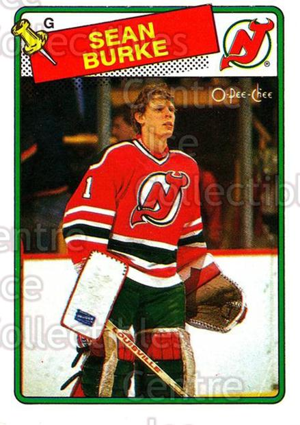 1988-89 O-Pee-Chee #94 Sean Burke<br/>2 In Stock - $3.00 each - <a href=https://centericecollectibles.foxycart.com/cart?name=1988-89%20O-Pee-Chee%20%2394%20Sean%20Burke...&price=$3.00&code=296755 class=foxycart> Buy it now! </a>
