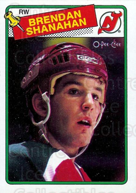 1988-89 O-Pee-Chee #122 Brendan Shanahan<br/>7 In Stock - $15.00 each - <a href=https://centericecollectibles.foxycart.com/cart?name=1988-89%20O-Pee-Chee%20%23122%20Brendan%20Shanaha...&quantity_max=7&price=$15.00&code=296759 class=foxycart> Buy it now! </a>