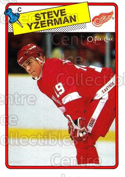 1988-89 O-Pee-Chee #196 Steve Yzerman<br/>2 In Stock - $5.00 each - <a href=https://centericecollectibles.foxycart.com/cart?name=1988-89%20O-Pee-Chee%20%23196%20Steve%20Yzerman...&price=$5.00&code=296764 class=foxycart> Buy it now! </a>