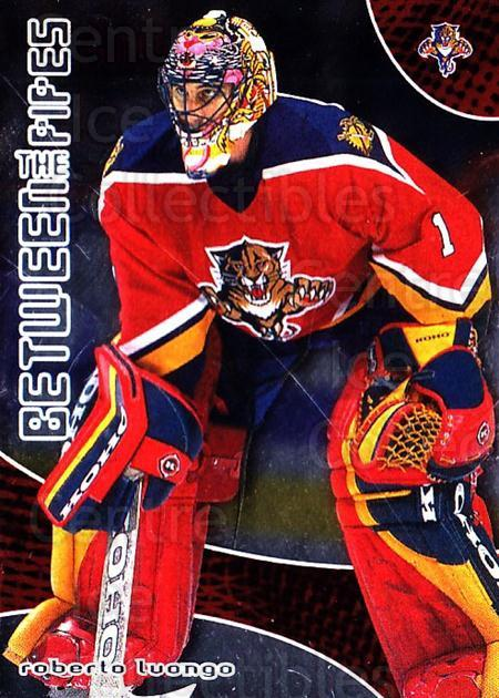 2001-02 Between the Pipes #33 Roberto Luongo<br/>3 In Stock - $2.00 each - <a href=https://centericecollectibles.foxycart.com/cart?name=2001-02%20Between%20the%20Pipes%20%2333%20Roberto%20Luongo...&quantity_max=3&price=$2.00&code=297438 class=foxycart> Buy it now! </a>