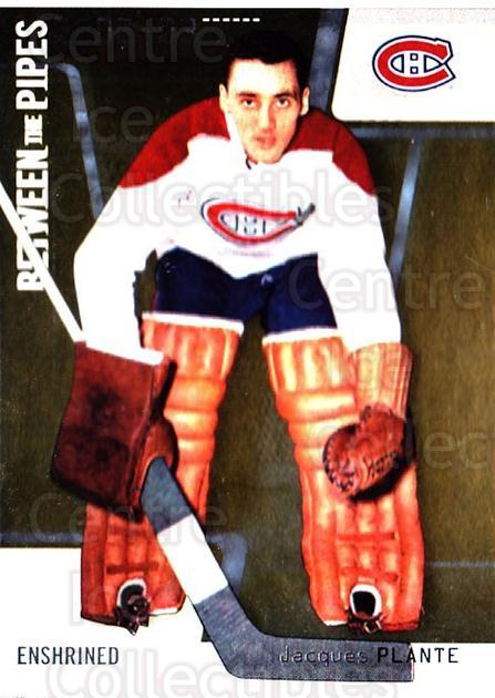 2002-03 Between the Pipes #113 Jacques Plante<br/>1 In Stock - $2.00 each - <a href=https://centericecollectibles.foxycart.com/cart?name=2002-03%20Between%20the%20Pipes%20%23113%20Jacques%20Plante...&quantity_max=1&price=$2.00&code=297474 class=foxycart> Buy it now! </a>