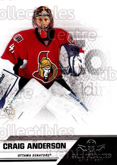 2010-11 Panini All Goalies #58 Craig Anderson<br/>9 In Stock - $1.00 each - <a href=https://centericecollectibles.foxycart.com/cart?name=2010-11%20Panini%20All%20Goalies%20%2358%20Craig%20Anderson...&quantity_max=9&price=$1.00&code=297536 class=foxycart> Buy it now! </a>