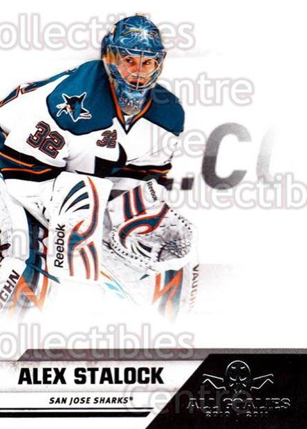 2010-11 Panini All Goalies #73 Alex Stalock<br/>9 In Stock - $1.00 each - <a href=https://centericecollectibles.foxycart.com/cart?name=2010-11%20Panini%20All%20Goalies%20%2373%20Alex%20Stalock...&quantity_max=9&price=$1.00&code=297551 class=foxycart> Buy it now! </a>