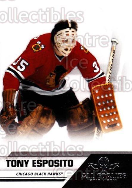 2010-11 Panini All Goalies #91 Tony Esposito<br/>1 In Stock - $2.00 each - <a href=https://centericecollectibles.foxycart.com/cart?name=2010-11%20Panini%20All%20Goalies%20%2391%20Tony%20Esposito...&quantity_max=1&price=$2.00&code=297569 class=foxycart> Buy it now! </a>