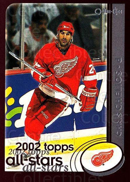 2002-03 O-Pee-Chee #323 Chris Chelios<br/>3 In Stock - $1.00 each - <a href=https://centericecollectibles.foxycart.com/cart?name=2002-03%20O-Pee-Chee%20%23323%20Chris%20Chelios...&quantity_max=3&price=$1.00&code=297617 class=foxycart> Buy it now! </a>