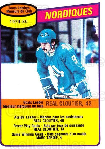 1980-81 O-Pee-Chee #238 Real Cloutier, Checklist<br/>1 In Stock - $3.00 each - <a href=https://centericecollectibles.foxycart.com/cart?name=1980-81%20O-Pee-Chee%20%23238%20Real%20Cloutier,%20...&quantity_max=1&price=$3.00&code=29761 class=foxycart> Buy it now! </a>