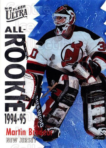 1994-95 Ultra All Rookies #2 Martin Brodeur<br/>1 In Stock - $20.00 each - <a href=https://centericecollectibles.foxycart.com/cart?name=1994-95%20Ultra%20All%20Rookies%20%232%20Martin%20Brodeur...&quantity_max=1&price=$20.00&code=297650 class=foxycart> Buy it now! </a>