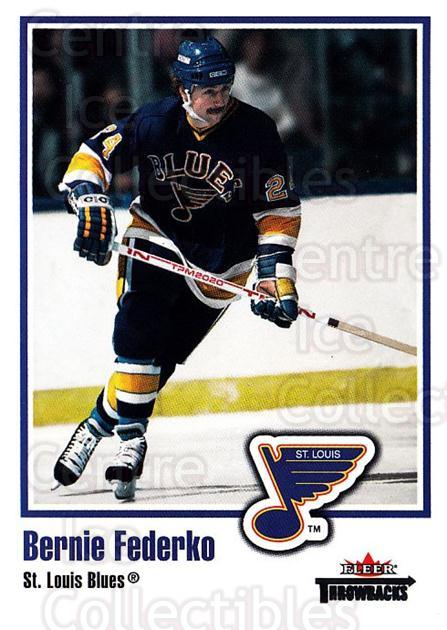 2002-03 Fleer Throwbacks #7 Bernie Federko<br/>3 In Stock - $2.00 each - <a href=https://centericecollectibles.foxycart.com/cart?name=2002-03%20Fleer%20Throwbacks%20%237%20Bernie%20Federko...&quantity_max=3&price=$2.00&code=297709 class=foxycart> Buy it now! </a>