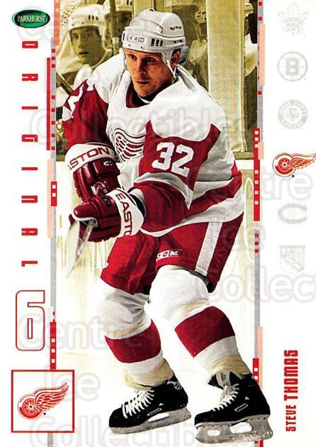 2003-04 Parkhurst Original Six Detroit Red Wings #17 Steve Thomas<br/>4 In Stock - $1.00 each - <a href=https://centericecollectibles.foxycart.com/cart?name=2003-04%20Parkhurst%20Original%20Six%20Detroit%20Red%20Wings%20%2317%20Steve%20Thomas...&quantity_max=4&price=$1.00&code=297811 class=foxycart> Buy it now! </a>