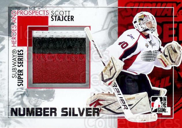 2010-11 ITG Heroes and Prospects Subway Number Silver #1 Scott Stajcer<br/>1 In Stock - $20.00 each - <a href=https://centericecollectibles.foxycart.com/cart?name=2010-11%20ITG%20Heroes%20and%20Prospects%20Subway%20Number%20Silver%20%231%20Scott%20Stajcer...&quantity_max=1&price=$20.00&code=297938 class=foxycart> Buy it now! </a>