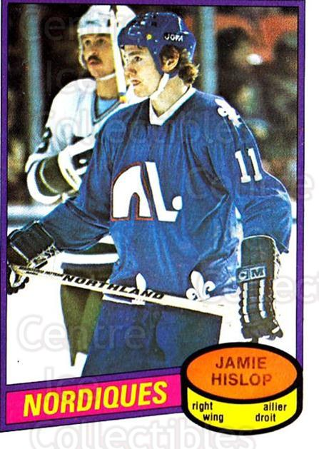 1980-81 O-Pee-Chee #327 Jamie Hislop<br/>1 In Stock - $2.00 each - <a href=https://centericecollectibles.foxycart.com/cart?name=1980-81%20O-Pee-Chee%20%23327%20Jamie%20Hislop...&price=$2.00&code=29796 class=foxycart> Buy it now! </a>