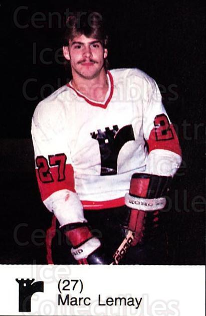 1980-81 Quebec Remparts #12 Marc Lemay<br/>4 In Stock - $3.00 each - <a href=https://centericecollectibles.foxycart.com/cart?name=1980-81%20Quebec%20Remparts%20%2312%20Marc%20Lemay...&price=$3.00&code=29847 class=foxycart> Buy it now! </a>