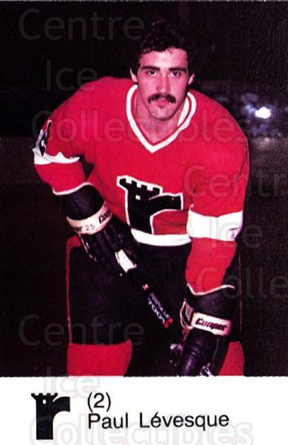 1980-81 Quebec Remparts #14 Paul Levesque<br/>4 In Stock - $3.00 each - <a href=https://centericecollectibles.foxycart.com/cart?name=1980-81%20Quebec%20Remparts%20%2314%20Paul%20Levesque...&price=$3.00&code=29849 class=foxycart> Buy it now! </a>