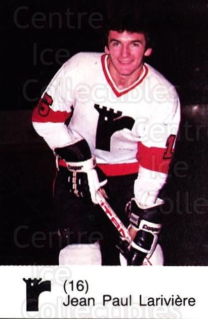 1980-81 Quebec Remparts #9 Jean-Paul Lariviere<br/>4 In Stock - $3.00 each - <a href=https://centericecollectibles.foxycart.com/cart?name=1980-81%20Quebec%20Remparts%20%239%20Jean-Paul%20Lariv...&price=$3.00&code=29864 class=foxycart> Buy it now! </a>