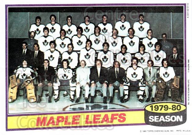 1980-81 Topps Team Posters #10 Toronto Maple Leafs<br/>2 In Stock - $2.00 each - <a href=https://centericecollectibles.foxycart.com/cart?name=1980-81%20Topps%20Team%20Posters%20%2310%20Toronto%20Maple%20L...&quantity_max=2&price=$2.00&code=29865 class=foxycart> Buy it now! </a>