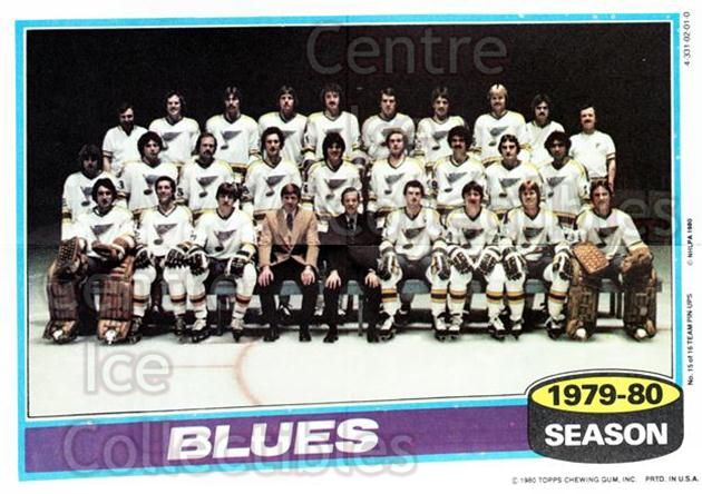 1980-81 Topps Team Posters #15 St. Louis Blues<br/>6 In Stock - $2.00 each - <a href=https://centericecollectibles.foxycart.com/cart?name=1980-81%20Topps%20Team%20Posters%20%2315%20St.%20Louis%20Blues...&quantity_max=6&price=$2.00&code=29870 class=foxycart> Buy it now! </a>