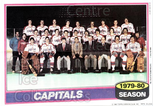 1980-81 Topps Team Posters #16 Washington Capitals<br/>4 In Stock - $2.00 each - <a href=https://centericecollectibles.foxycart.com/cart?name=1980-81%20Topps%20Team%20Posters%20%2316%20Washington%20Capi...&quantity_max=4&price=$2.00&code=29871 class=foxycart> Buy it now! </a>