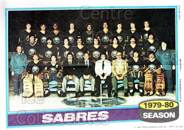 1980-81 Topps Team Posters #6 Buffalo Sabres<br/>2 In Stock - $2.00 each - <a href=https://centericecollectibles.foxycart.com/cart?name=1980-81%20Topps%20Team%20Posters%20%236%20Buffalo%20Sabres...&quantity_max=2&price=$2.00&code=29876 class=foxycart> Buy it now! </a>