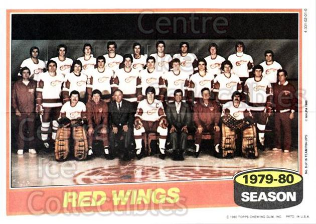 1980-81 Topps Team Posters #8 Detroit Red Wings<br/>4 In Stock - $2.00 each - <a href=https://centericecollectibles.foxycart.com/cart?name=1980-81%20Topps%20Team%20Posters%20%238%20Detroit%20Red%20Win...&quantity_max=4&price=$2.00&code=29878 class=foxycart> Buy it now! </a>
