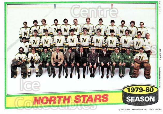 1980-81 Topps Team Posters #9 Minnesota North Stars<br/>5 In Stock - $2.00 each - <a href=https://centericecollectibles.foxycart.com/cart?name=1980-81%20Topps%20Team%20Posters%20%239%20Minnesota%20North...&quantity_max=5&price=$2.00&code=29879 class=foxycart> Buy it now! </a>
