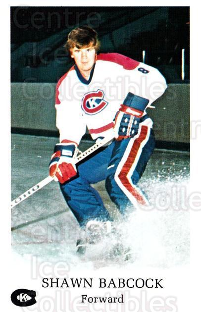 1981-82 Kingston Canadians #5 Shawn Babcock<br/>1 In Stock - $3.00 each - <a href=https://centericecollectibles.foxycart.com/cart?name=1981-82%20Kingston%20Canadians%20%235%20Shawn%20Babcock...&quantity_max=1&price=$3.00&code=29890 class=foxycart> Buy it now! </a>