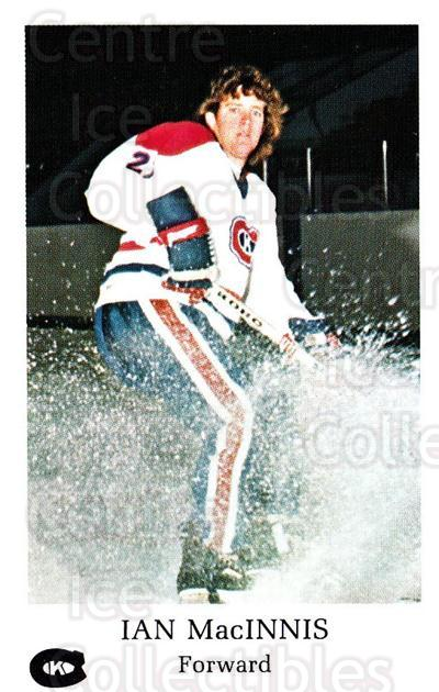 1981-82 Kingston Canadians #7 Ian MacInnis<br/>1 In Stock - $3.00 each - <a href=https://centericecollectibles.foxycart.com/cart?name=1981-82%20Kingston%20Canadians%20%237%20Ian%20MacInnis...&quantity_max=1&price=$3.00&code=29892 class=foxycart> Buy it now! </a>