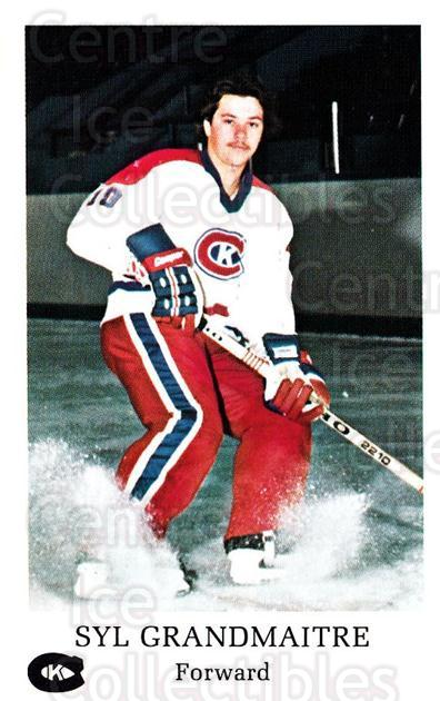 1981-82 Kingston Canadians #9 Syl Grandmaitre<br/>1 In Stock - $3.00 each - <a href=https://centericecollectibles.foxycart.com/cart?name=1981-82%20Kingston%20Canadians%20%239%20Syl%20Grandmaitre...&quantity_max=1&price=$3.00&code=29894 class=foxycart> Buy it now! </a>