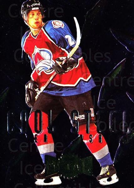 1996-97 Metal Universe Cool Steel #2 Peter Forsberg<br/>1 In Stock - $10.00 each - <a href=https://centericecollectibles.foxycart.com/cart?name=1996-97%20Metal%20Universe%20Cool%20Steel%20%232%20Peter%20Forsberg...&quantity_max=1&price=$10.00&code=299117 class=foxycart> Buy it now! </a>