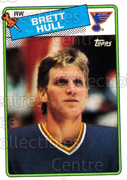 1988-89 Topps #66 Brett Hull<br/>5 In Stock - $15.00 each - <a href=https://centericecollectibles.foxycart.com/cart?name=1988-89%20Topps%20%2366%20Brett%20Hull...&price=$15.00&code=299147 class=foxycart> Buy it now! </a>