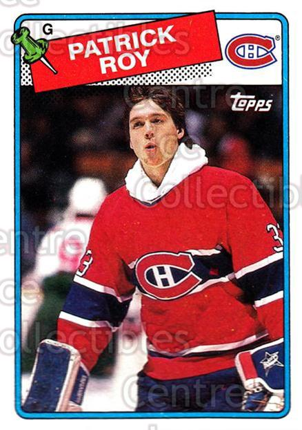 1988-89 Topps #116 Patrick Roy<br/>21 In Stock - $3.00 each - <a href=https://centericecollectibles.foxycart.com/cart?name=1988-89%20Topps%20%23116%20Patrick%20Roy...&price=$3.00&code=299149 class=foxycart> Buy it now! </a>