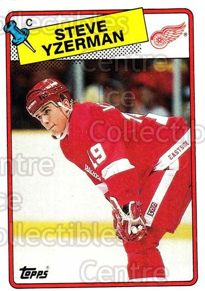 1988-89 Topps #196 Steve Yzerman<br/>19 In Stock - $3.00 each - <a href=https://centericecollectibles.foxycart.com/cart?name=1988-89%20Topps%20%23196%20Steve%20Yzerman...&price=$3.00&code=299153 class=foxycart> Buy it now! </a>