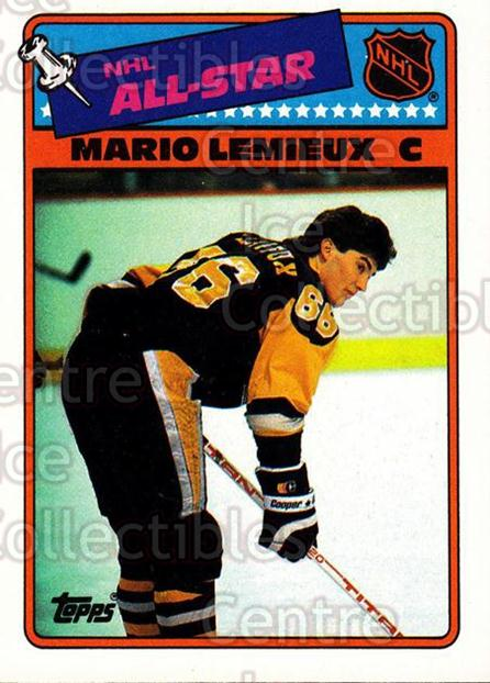 1988-89 Topps Stickers Insert #2 Mario Lemieux<br/>3 In Stock - $3.00 each - <a href=https://centericecollectibles.foxycart.com/cart?name=1988-89%20Topps%20Stickers%20Insert%20%232%20Mario%20Lemieux...&price=$3.00&code=299154 class=foxycart> Buy it now! </a>