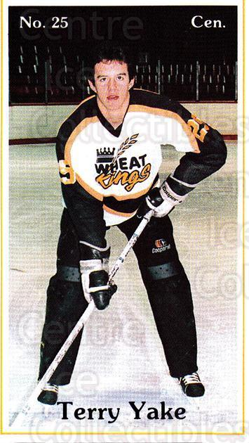 1985-86 Brandon Wheat Kings #14 Terry Yake<br/>4 In Stock - $3.00 each - <a href=https://centericecollectibles.foxycart.com/cart?name=1985-86%20Brandon%20Wheat%20Kings%20%2314%20Terry%20Yake...&quantity_max=4&price=$3.00&code=299326 class=foxycart> Buy it now! </a>