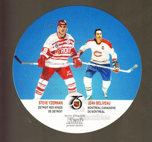 1991-92 Kraft #68 Steve Yzerman, Jean Beliveau<br/>19 In Stock - $3.00 each - <a href=https://centericecollectibles.foxycart.com/cart?name=1991-92%20Kraft%20%2368%20Steve%20Yzerman,%20...&price=$3.00&code=299384 class=foxycart> Buy it now! </a>