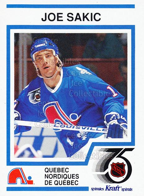 1991-92 Kraft ( Red Backs ) #41 Joe Sakic<br/>1 In Stock - $3.00 each - <a href=https://centericecollectibles.foxycart.com/cart?name=1991-92%20Kraft%20(%20Red%20Backs%20)%20%2341%20Joe%20Sakic...&price=$3.00&code=299388 class=foxycart> Buy it now! </a>