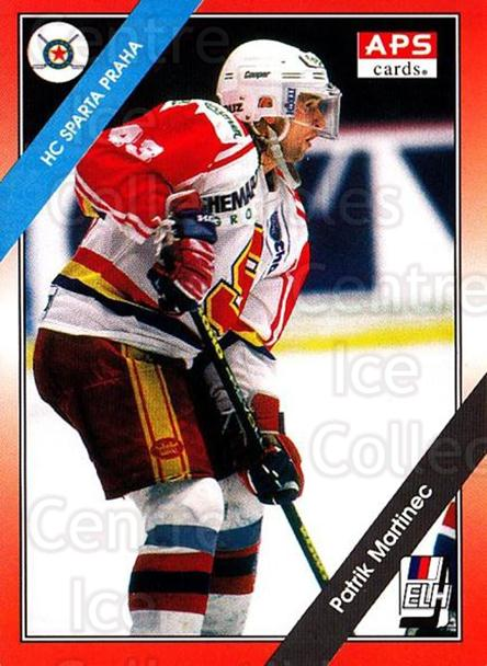 1994-95 Czech APS Extraliga #85 Patrik Martinec<br/>2 In Stock - $2.00 each - <a href=https://centericecollectibles.foxycart.com/cart?name=1994-95%20Czech%20APS%20Extraliga%20%2385%20Patrik%20Martinec...&quantity_max=2&price=$2.00&code=299604 class=foxycart> Buy it now! </a>