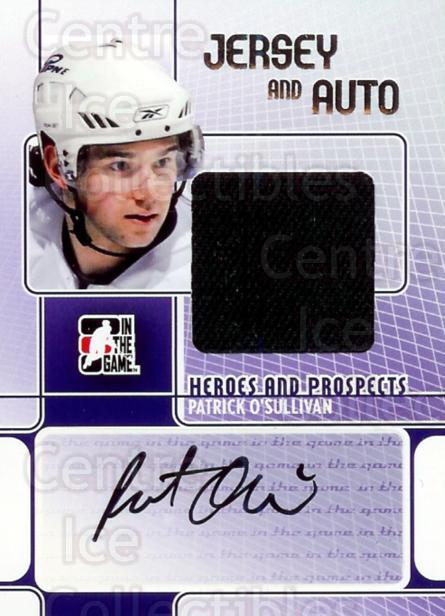 2008-09 ITG Heroes and Prospects Jersey Auto Silver #JAPO Patrick O'Sullivan<br/>1 In Stock - $15.00 each - <a href=https://centericecollectibles.foxycart.com/cart?name=2008-09%20ITG%20Heroes%20and%20Prospects%20Jersey%20Auto%20Silver%20%23JAPO%20Patrick%20O'Sulli...&quantity_max=1&price=$15.00&code=300215 class=foxycart> Buy it now! </a>