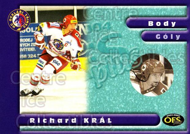 2003-04 Czech OFS Points Leaders #1 Richard Kral<br/>1 In Stock - $2.00 each - <a href=https://centericecollectibles.foxycart.com/cart?name=2003-04%20Czech%20OFS%20Points%20Leaders%20%231%20Richard%20Kral...&quantity_max=1&price=$2.00&code=300399 class=foxycart> Buy it now! </a>