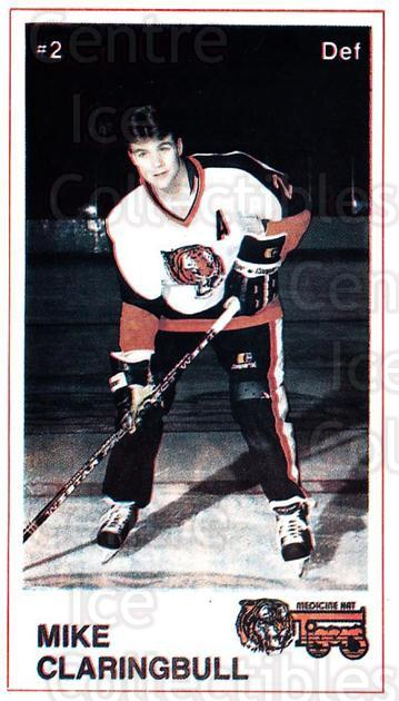 1985-86 Medicine Hat Tigers #1 Mike Claringbull<br/>4 In Stock - $3.00 each - <a href=https://centericecollectibles.foxycart.com/cart?name=1985-86%20Medicine%20Hat%20Tigers%20%231%20Mike%20Claringbul...&quantity_max=4&price=$3.00&code=30043 class=foxycart> Buy it now! </a>