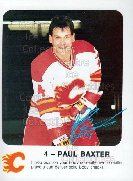 1986-87 Calgary Flames Red Rooster #1 Paul Baxter<br/>8 In Stock - $3.00 each - <a href=https://centericecollectibles.foxycart.com/cart?name=1986-87%20Calgary%20Flames%20Red%20Rooster%20%231%20Paul%20Baxter...&quantity_max=8&price=$3.00&code=30047 class=foxycart> Buy it now! </a>