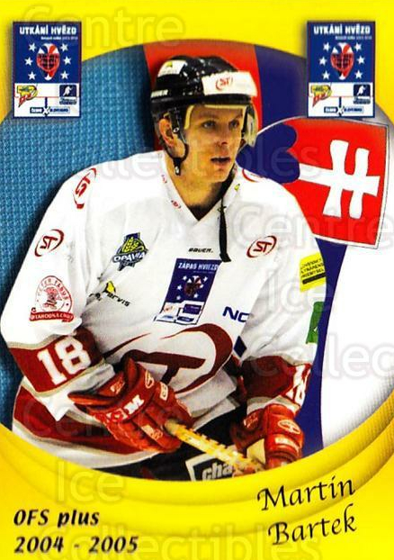 2004-05 Czech OFS Czech/Slovak AS Game #24 Martin Bartek<br/>2 In Stock - $2.00 each - <a href=https://centericecollectibles.foxycart.com/cart?name=2004-05%20Czech%20OFS%20Czech/Slovak%20AS%20Game%20%2324%20Martin%20Bartek...&quantity_max=2&price=$2.00&code=300534 class=foxycart> Buy it now! </a>