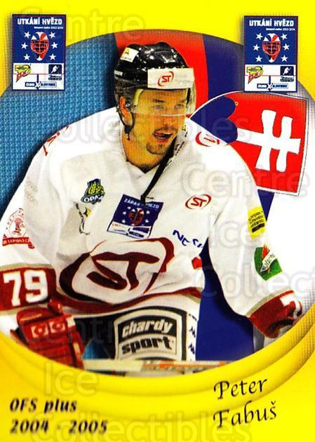 2004-05 Czech OFS Czech/Slovak AS Game #26 Peter Fabus<br/>1 In Stock - $2.00 each - <a href=https://centericecollectibles.foxycart.com/cart?name=2004-05%20Czech%20OFS%20Czech/Slovak%20AS%20Game%20%2326%20Peter%20Fabus...&quantity_max=1&price=$2.00&code=300535 class=foxycart> Buy it now! </a>
