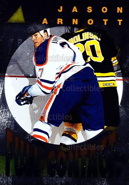 1995-96 Pinnacle Full Contact #8 Jason Arnott<br/>9 In Stock - $3.00 each - <a href=https://centericecollectibles.foxycart.com/cart?name=1995-96%20Pinnacle%20Full%20Contact%20%238%20Jason%20Arnott...&quantity_max=9&price=$3.00&code=301046 class=foxycart> Buy it now! </a>