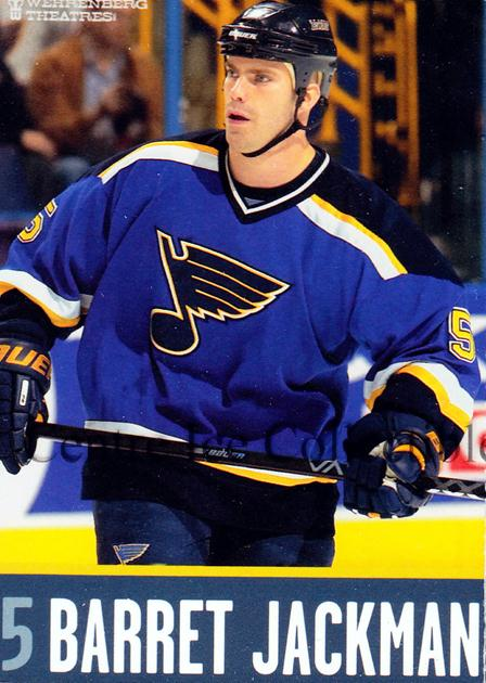 2003-04 St. Louis Blues Team Issued #10 Barret Jackman<br/>2 In Stock - $3.00 each - <a href=https://centericecollectibles.foxycart.com/cart?name=2003-04%20St.%20Louis%20Blues%20Team%20Issued%20%2310%20Barret%20Jackman...&quantity_max=2&price=$3.00&code=301103 class=foxycart> Buy it now! </a>