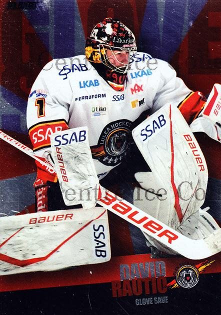 2011-12 Swedish Elitset Glove Save #7 David Rautio<br/>2 In Stock - $3.00 each - <a href=https://centericecollectibles.foxycart.com/cart?name=2011-12%20Swedish%20Elitset%20Glove%20Save%20%237%20David%20Rautio...&price=$3.00&code=301447 class=foxycart> Buy it now! </a>