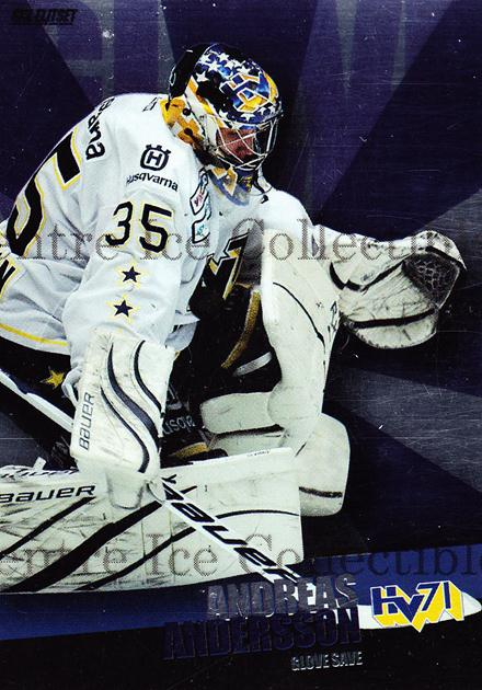 2011-12 Swedish Elitset Glove Save #8 Andreas Andersson<br/>1 In Stock - $3.00 each - <a href=https://centericecollectibles.foxycart.com/cart?name=2011-12%20Swedish%20Elitset%20Glove%20Save%20%238%20Andreas%20Anderss...&price=$3.00&code=301448 class=foxycart> Buy it now! </a>