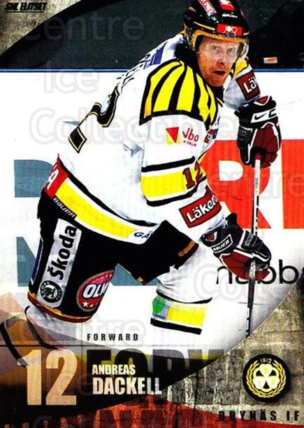 2011-12 Swedish Elitset #20 Andreas Dackell<br/>3 In Stock - $2.00 each - <a href=https://centericecollectibles.foxycart.com/cart?name=2011-12%20Swedish%20Elitset%20%2320%20Andreas%20Dackell...&price=$2.00&code=301470 class=foxycart> Buy it now! </a>