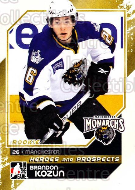 2010-11 ITG Heroes and Prospects #163 Brandon Kozun<br/>44 In Stock - $1.00 each - <a href=https://centericecollectibles.foxycart.com/cart?name=2010-11%20ITG%20Heroes%20and%20Prospects%20%23163%20Brandon%20Kozun...&quantity_max=44&price=$1.00&code=301621 class=foxycart> Buy it now! </a>