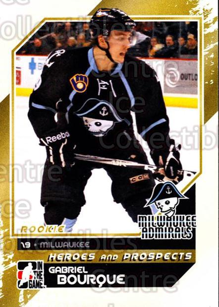 2010-11 ITG Heroes and Prospects #165 Gabriel Bourque<br/>43 In Stock - $1.00 each - <a href=https://centericecollectibles.foxycart.com/cart?name=2010-11%20ITG%20Heroes%20and%20Prospects%20%23165%20Gabriel%20Bourque...&quantity_max=43&price=$1.00&code=301623 class=foxycart> Buy it now! </a>